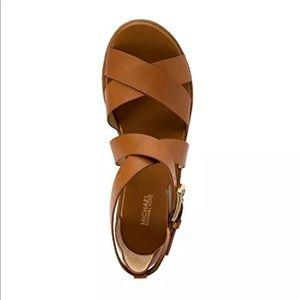 5fd3cf0e6f1a Michael Kors Shoes - Michael Kors Darby Flatform Sandal in Luggage- 7.5